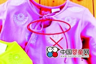 出口儿童服装需注意绳带安全隐患