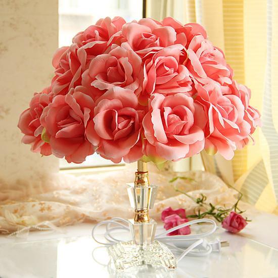 玫瑰花语吐露芬芳 8款花艺台灯显浓情