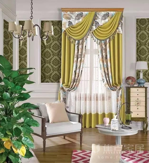 窗帘在家居中的色彩运用