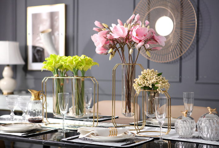 欧式现代金属花瓶 低调奢华风格
