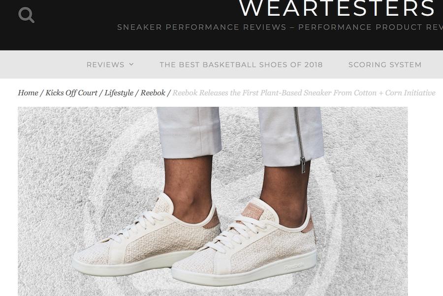 """锐步推出环保运动鞋:75%的原料来自""""棉花,玉米和蓖麻籽油"""""""