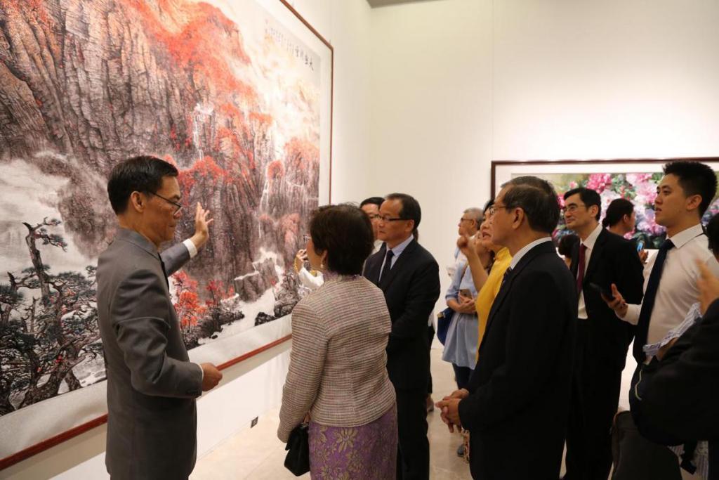 锦绣丝路——中国精品刺绣艺术展新加坡开幕