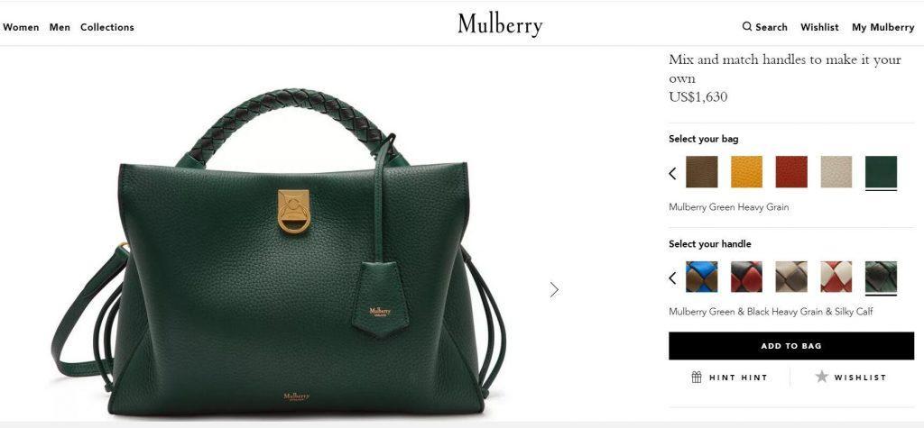 英国浪费手袋品牌 Mulberry 竣工环球同价